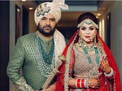 Pics: Indian comedian Kapil Sharma marries Ginni Chatrath