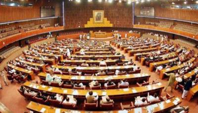 Opposition stages walkout from NA over non-issuance of Saad's production order