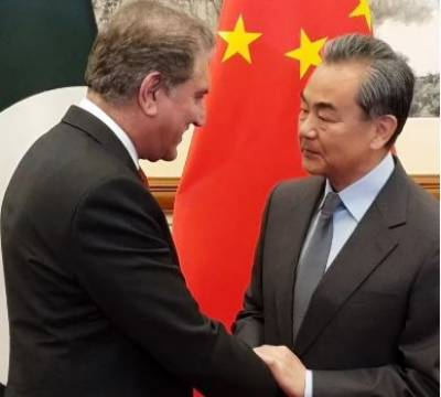 FM Qureshi meets Chinese counterpart in Beijing