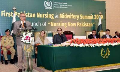 President Arif Alvi declares 2019 as year of nursing