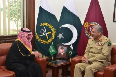 Saudi Prince Fahad Bin Sultan calls on Army chief Bajwa at GHQ