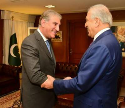 Pakistan assures Zalmay Khalilzad to continue efforts for Afghan peace talks