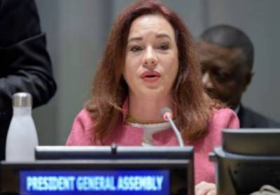 UNGA President Maria Fernanda Espinosa arrives in Pakistan