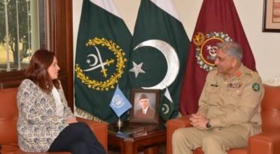 UNGA president Maria Fernanda Espinosa meets Army chief Bajwa