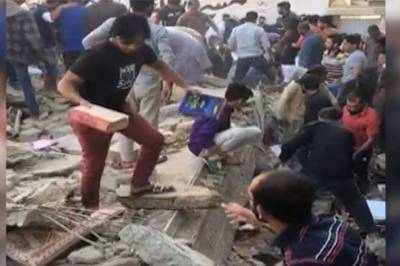 Two dead, several injured as building collapses in Karachi