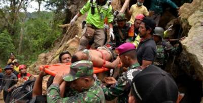 Death toll from Indonesia gold mine collapse rises to 16