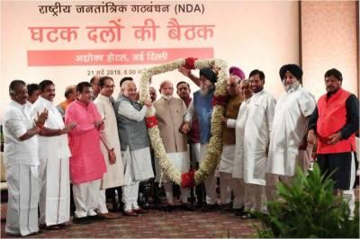 Modi led BJP coalition leads India's 2019 polls