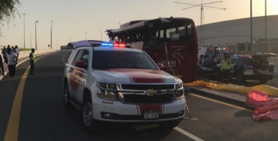 Dubai bus crash leaves at least 17 dead