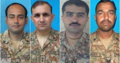 Three army officers, one soldier martyred in North Waziristan IED blast