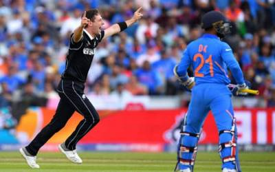 New Zealand beat India by 18 runs to reach World Cup final