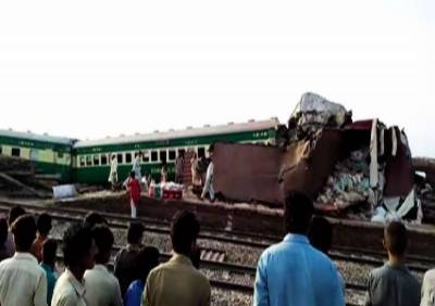 At least 21 killed, several injured as two trains collide near Sadiqabad