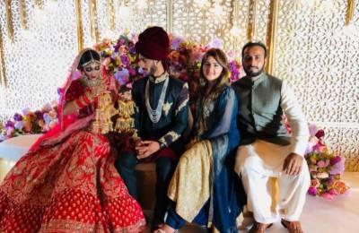 watch: Hassan Ali ties the knot with Samiya Khan