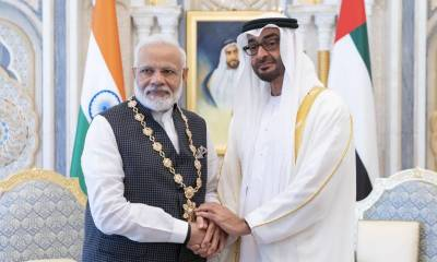 Modi awarded UAE's highest civilian honour amid occupied Kashmir crackdown