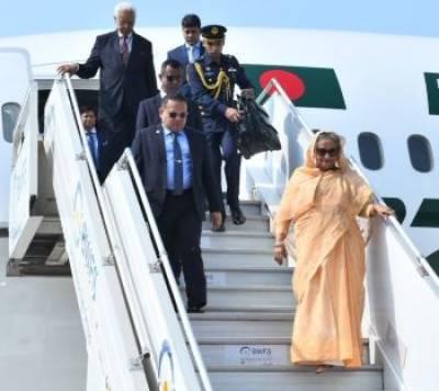 Bangladesh PM Sheikh Hasina reaches India on 4-day visit