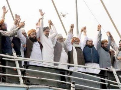 Opposition leaders address JUI-F's Azadi march