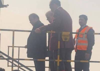 Former PM Nawaz Sharif leaves for London in air ambulance
