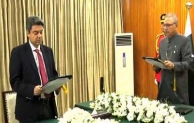 Farogh Naseem takes oath as federal minister