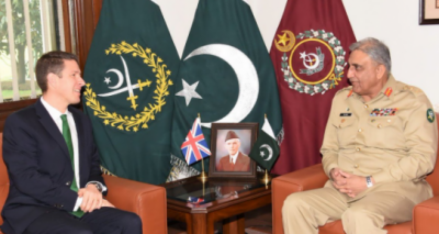 Newly-appointed British High Commissioner calls on COAS Bajwa