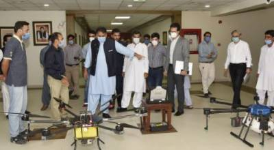 'Made in Pakistan': Drones capable of monitoring farms, spraying disinfectants launched