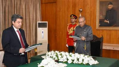 Farogh Naseem sworn in as law minister – for third time