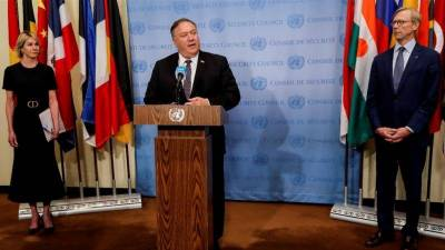 UNSC rejects US demand to impose 'snapback' sanctions on Iran