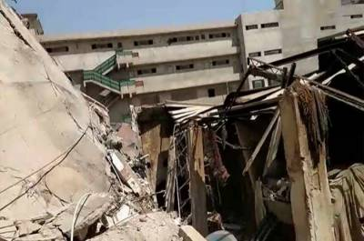 Two killed as factory building collapses in Karachi